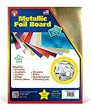 Hygloss 25 Gold, 8.5 x 11-Inch Metallic Foil Board