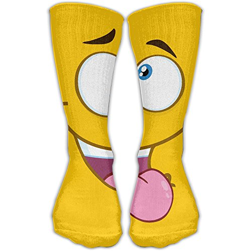 Double Tongue Prints (LKZD Protruding Tongue Fashion Crew Socks Funny Casual Short Stockings One Size)
