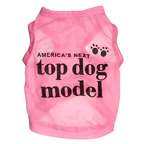 Top Dog Model - Ollypet Dog Clothes America's Next Top Model Cotton Dog Shirt Pet Vest Pink S
