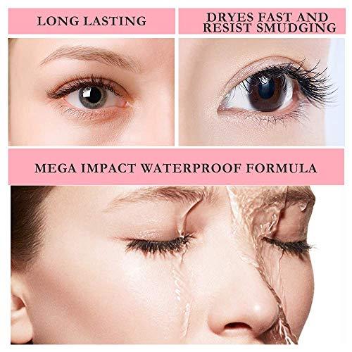 Waterproof 4D Silk Fiber Eyelash Mascara Curling Thick,Waterproof Lasting Mascara for Eye Makeup Natural Voluminous Look (Black)