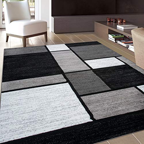 (Rugshop Contemporary Modern Boxes Area Rug 6'6