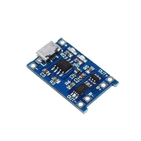 SDLMNBVCXZ 1 unids 5 V 1A Micro USB 18650 Batería de Litio ...