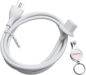 "WESAPPINC Replacement US Plug Extension Cable for Apple iMac G5 20"" 21.5' 24"" 27"" Power Supply Cord"