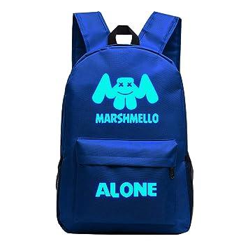 Mochila Escolar Marshmello DJ, Luminosa Mochilas Infantiles para Chicas Estudiantes Marshmello Logo Backpack Bolso Portátil Viaje (Blue): Amazon.es: ...