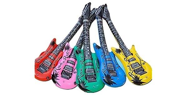 Guitarra hinchable de 95 centímetros, varios colores: Amazon.es ...