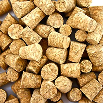 100 Pcs Small Body Natural Piercing Corks for Needles Tool Stopper Jewelry Stud