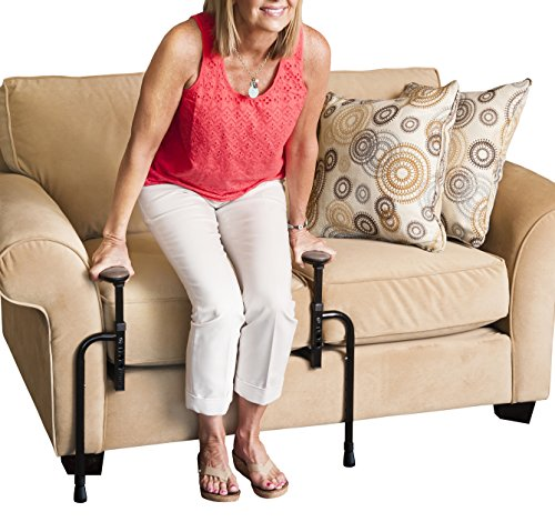 Stander EZ Stand-N-Go - Ergonomic Stand Assist Handles + Adjustable Standing Mobilty Aid for Couch Chair & Sofa & Living Room Grab Bar