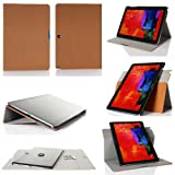 GearIt Galaxy Tab Pro / Note Pro 12.2 - 360 SPINNER landscape, portrait, typing stand folio cover - Twill Beige
