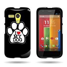 CoverON® for Motorola Moto G (1st Gen, 2014) Hard Design Case [Snap Fit Series] Slim Polycarbonate Back Phone Cover - (Dog Paw)