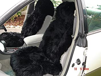 Starose New Zealand Genuine Sheepskin Car Seat Cover Bucket Universal Fit