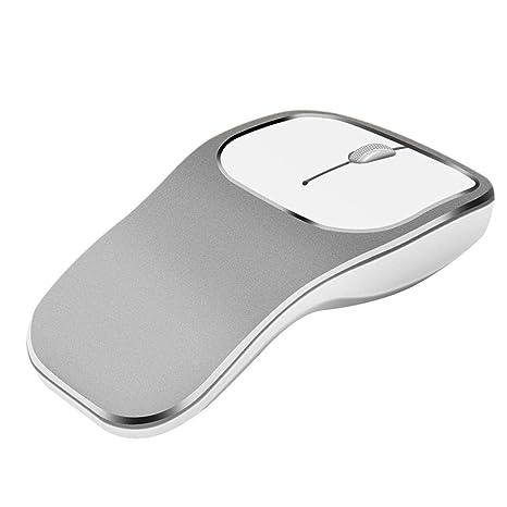 True-Ying - Ratón inalámbrico Recargable de 2,4 GHz con botón silencioso Compacto
