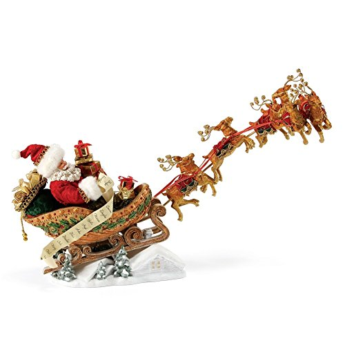 "Department 56 Possible Dreams Santa Claus ""Dash Away All"" Clothtique Christmas Figurine (Possible Dreams Santa 56)"