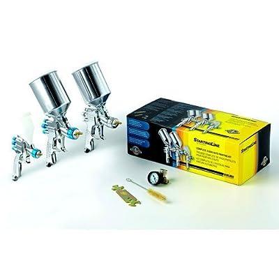 Devilbiss Spray Paint Gun Kit 802789 HVLP 3 Guns w/regulator NEW!!!