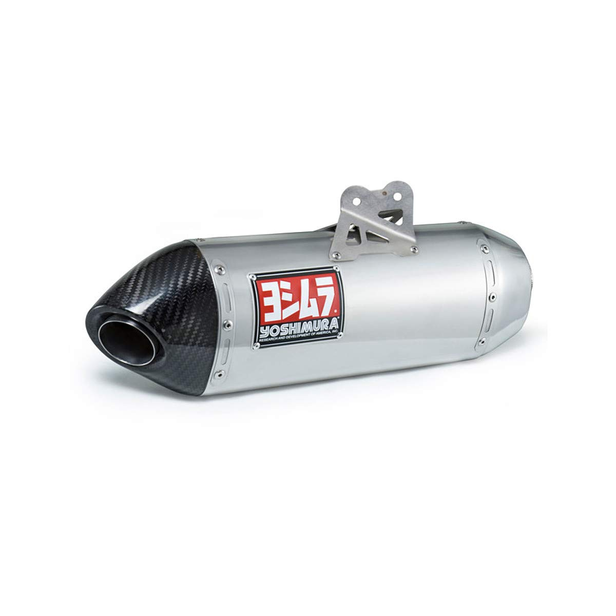 Yoshimura 196549 RS-4 Full Exhaust System Stainless Sleeve with Carbon End Cap