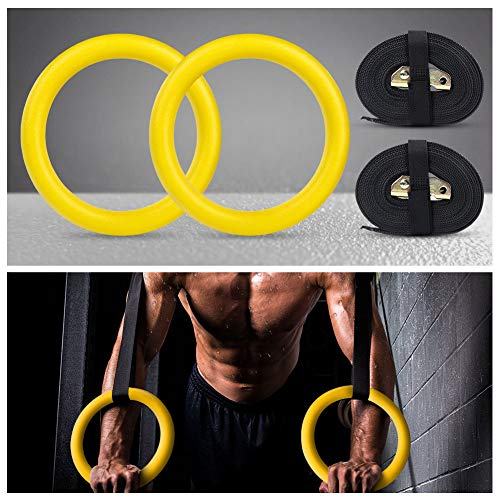 Yissvic  Gymnastic Rings w// Straps Gym Strength Training New in the Box