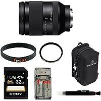 Sony FE 24-240mm f/3.5-6.3 OSS Full-frame E-mount Telephoto Zoom Lens with Tamrac Arc Lens Case 1.3 (Black) and Acessory Bundle