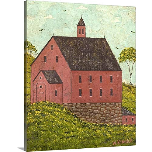 GREATBIGCANVAS Gallery-Wrapped Canvas Entitled Red Barn by Warren Kimble 19