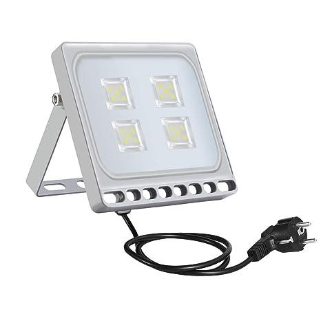 20w Foco Proyector LED Ultra Plano para exterior, Floodlight con ...