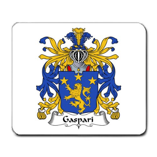 Gaspari Family Crest Coat of Arms Mouse Pad