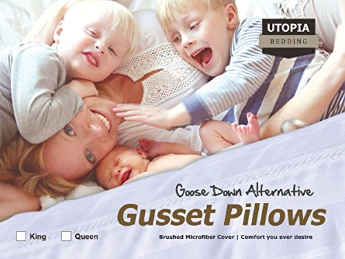 Gusseted Quilted Pillow King 18 Bed Pillows
