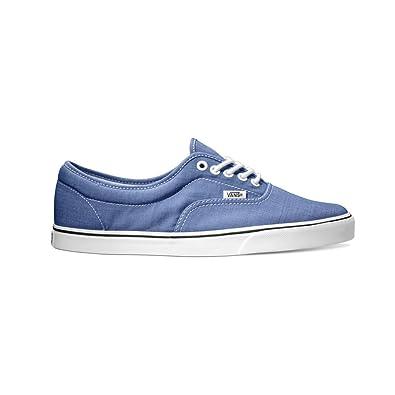 Vans LPE Mens Blue Canvas Lace Up Lace Up Sneakers Shoes 11.5