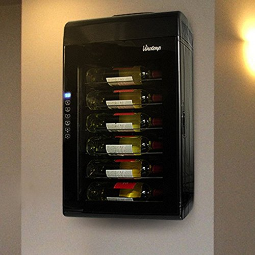 Vinotemp 6 Bottle - Vinotemp 6-Bottle Wall-Mount Thermoelectric Wine Cooler