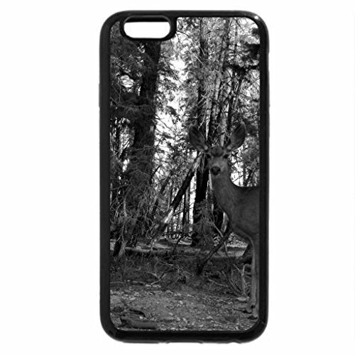 iPhone 6S Plus Case, iPhone 6 Plus Case (Black & White) - Autumn Deer