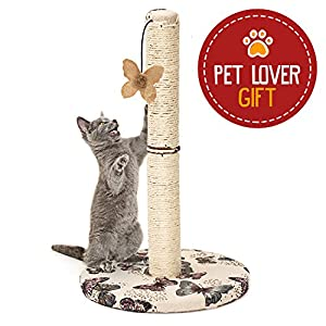 Cat Scratching Post with Hanging Butterfly Toy 36