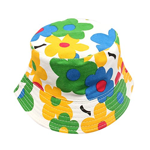 CHIDY Baby Toddler Kids Boys Girls Floral Pattern Bucket Hats Sun Helmet Cap Floral Print Cap Visor