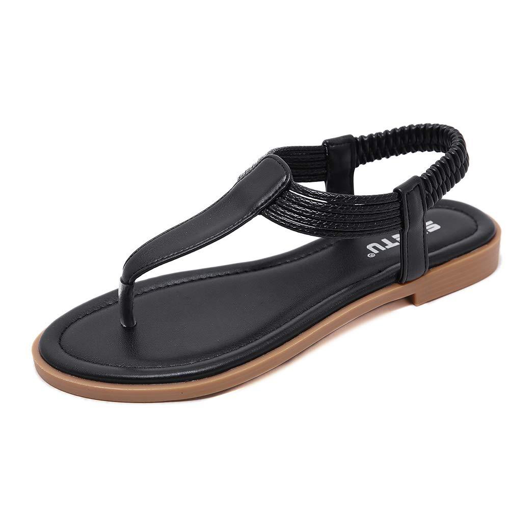 Details about  /Sandalias De Mujer Zapatos De Moda Verano Correa El�stica Bohemia Chanclas Chica