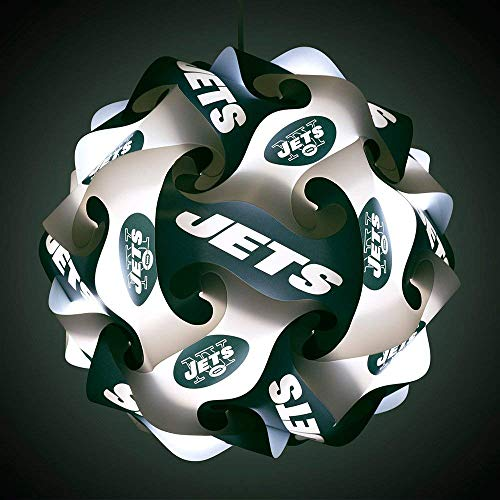 FanLampz Original Self-Assembly Lighting System for Patios, Garages, Man Caves - NFL Officially Licensed Item (New York Jets)