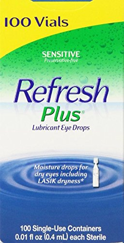 Allergan Refresh Plus Lubricant Eye Drops Single-Use Vials - LargerSize 2Pack (100 ct )