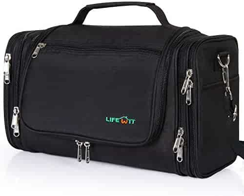 4817208ee531 Lifewit Hanging Toiletry Bag Extra Large Waterproof Travel Essentials  Organizer Personal Cosmetic Makeup Shaving Kit