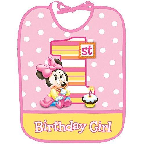 Amazon.com : 1r cumpleaños del babero de bebé de Minnie : Baby