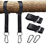 MissLytton Tree Swing Hanging Straps Kit, 10 Feet Long Straps with Two Safer Lock Snap Carabiner Hooks Carabiners, East to Install, 2000Lbs Break Strength, Perfect for Baby Toddler Swings and Hammocks