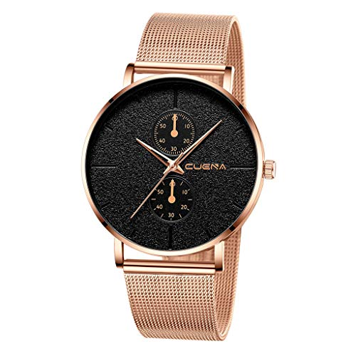 Guartz Watches for Men Digital Under 10 Dollars ❤ Luxury Watches Quartz Watch Stainless Steel Dial Casual Bracele Watch
