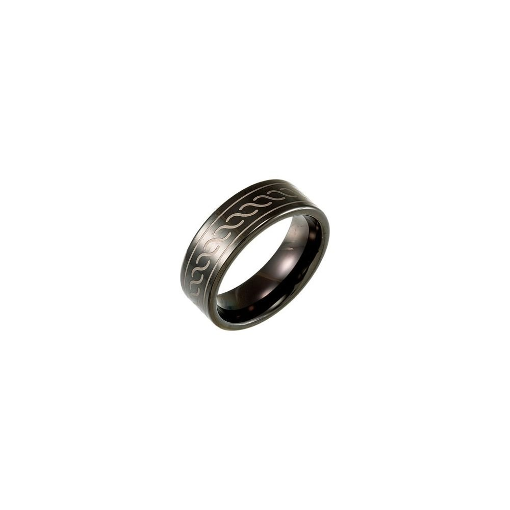 Tungsten 8.3mm Band with Black Immerse Plating Size 9 Ring Size 9