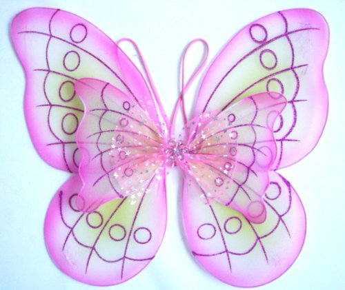 Pink Butterfly Costume Dress-up Wings