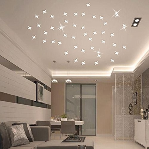 3d stars sky wall decal
