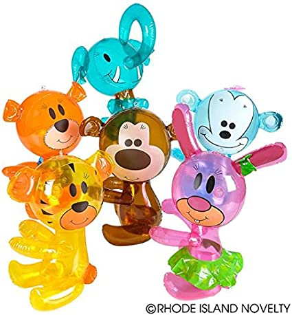 """ZOO JUNGLE ANIMAL PARTY BLOW UP TOY KIDS GIFT 14/"""" INFLATABLE HUG ME ELEPHANT"""