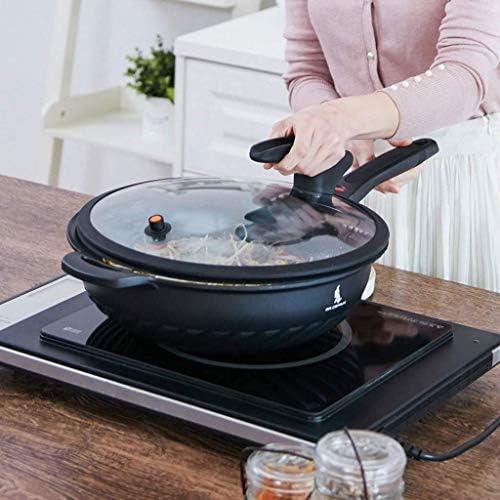 ECSWP Soupe maison Pot couvercle, le couvercle en verre transparent, couvercle Pan, Frying Pan, Pan, Wok, remplacement cuisine (Size : 28)