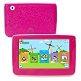 LLLccorp 7 inch Kids Education Tablets Android 5.1 1280x800 IPS Display with Parental Control Software,Kid Proof Case,Screen Protector (Red)