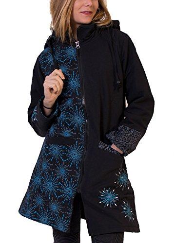 Coton Du Monde Manteau CAUVERY Noir Multicolore