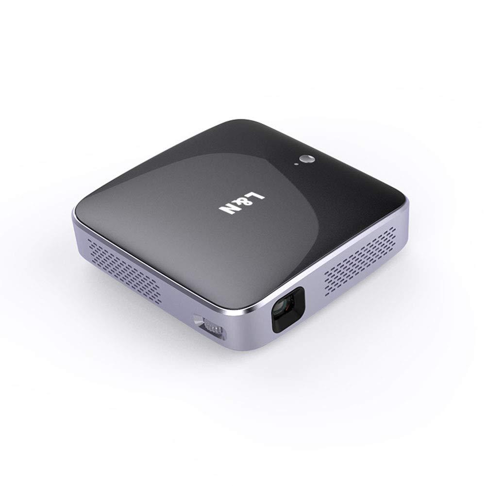 1080P HD LED映画プロジェクタポータブルホームシアター 2500ルーメン ビデオプロジェクタースタンド 三脚付き ブラック B07MR3DPZT