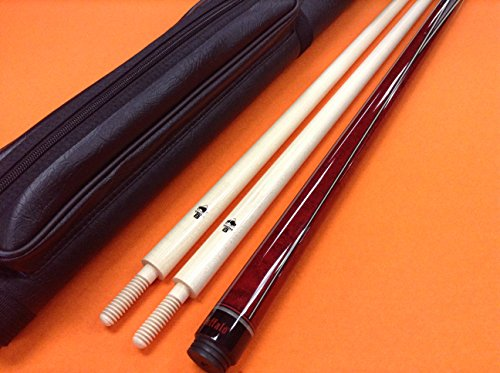 (Buffalo CAROM CUE PREMIUM 2 WITH TECH 8 SHAFTS & CASE.)