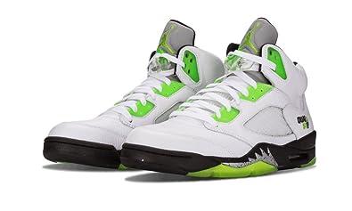 Nike Mens Air Jordan 5 Retro Q54 \u0026quot;Quai\u0026quot; White/Radiant Green-