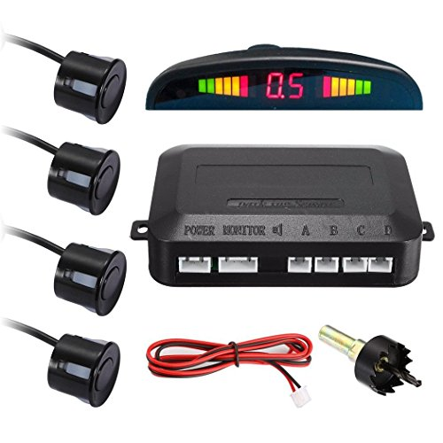 XD-066 LED Display Car Reverse Backup Radar with 4 Parking Sensors ()