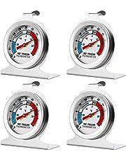 4 Pack Refrigerator Freezer Thermometer Large Dial Thermometer Temperature Thermometer for Refrigerator Freezer Fridge Cooler