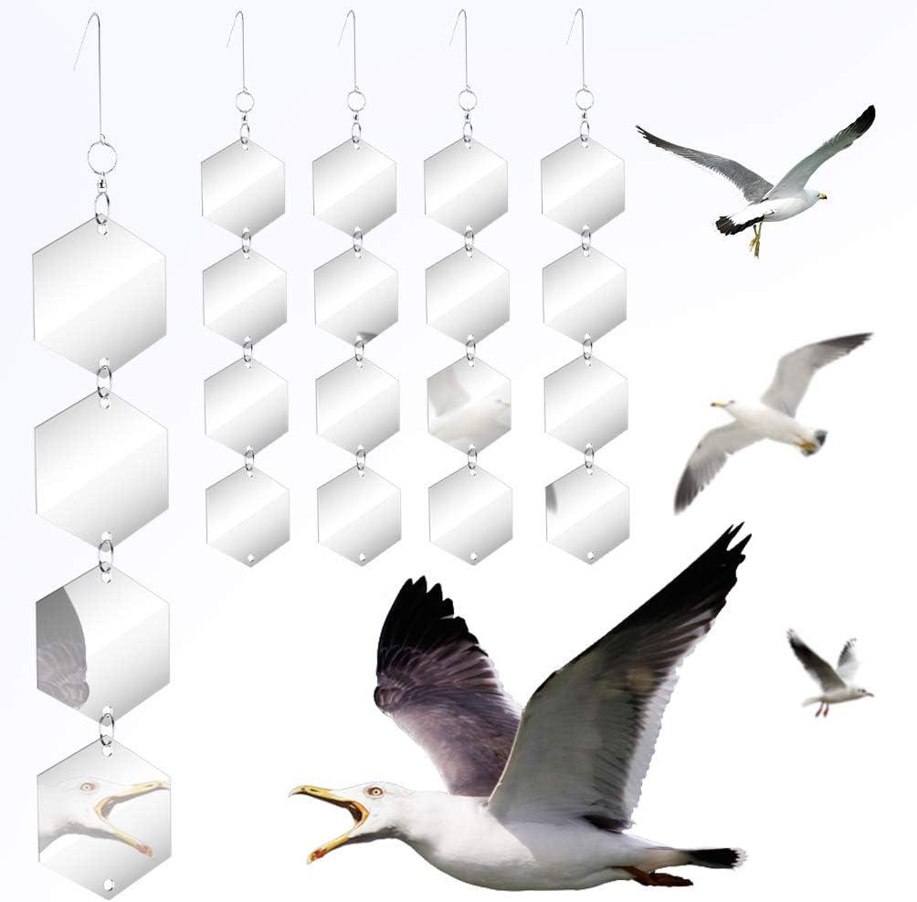 Bird Repellent Discs Set - Highly Reflective Dual Sided Bird Deterrent Discs - 16 PCS DIY Bird Hanging Reflective DiscsGarden Reflectors Scare Birds Away Like Woodpeckers, Pigeons and Pest Bird