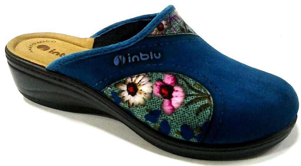 Inblu pantofole ciabatte invernali da donna art. LY-30 royal blu  -